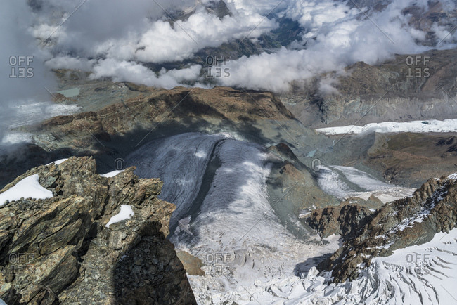 Glacier tongue below Klein Matterhorn, Zermatt, Switzerland