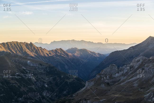 Hohe Tauern National Park at sunrise, Austria