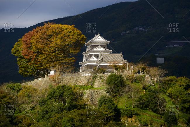 Kumamoto Castle in autumn, Kyushu Island, Japan