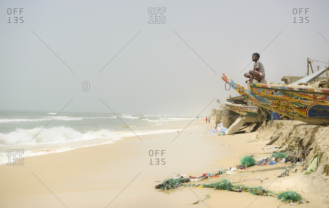 March 27, 2016: Beach in St Louis, Senegal