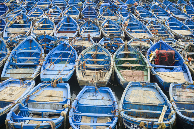 May 16, 2016: Boat parking, Essaouira, Morocco