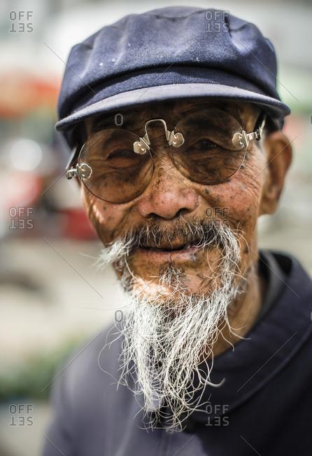 May 19, 2010: Traditional glasses. Gansu, China