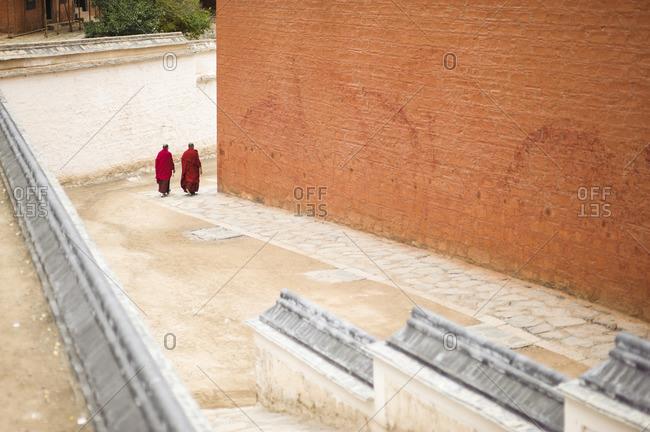 Monastery cluster, Labrang, Tibetan plateau. Xiahe, China