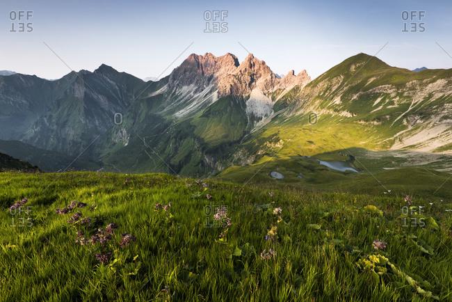 Mountain lake, Alps, Allgau, Bavaria, Germany, Europe
