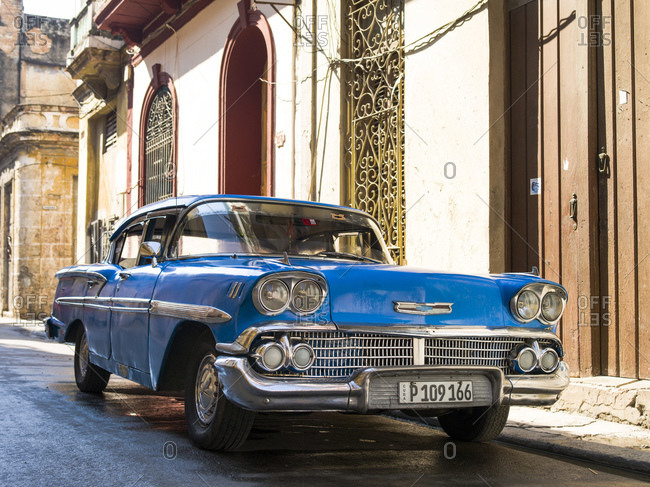 October 9, 2015: Old Chevrolet, Havana, Cuba