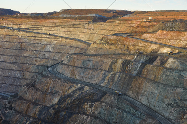 Opencast mine, gold mine, Kalgoorlie, Western Australia