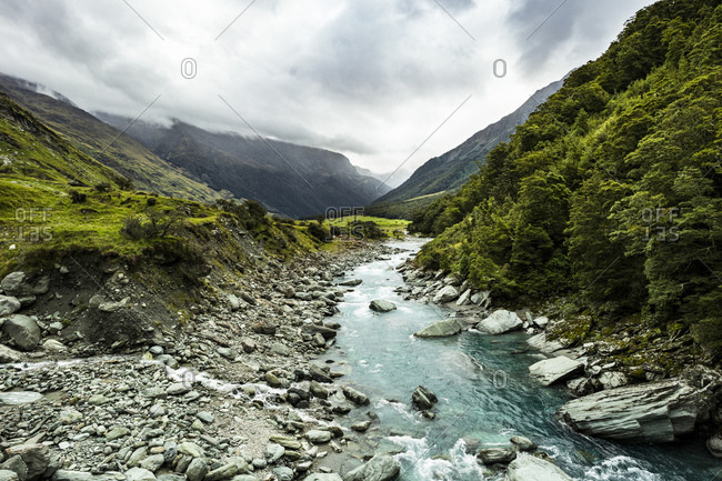Rob Roy hiking trail, Wanaka, New Zealand
