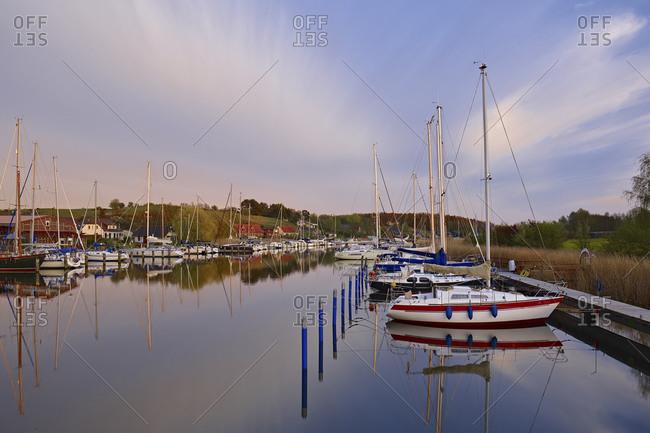 Seedorf port on Ruegen, Mecklenburg-West Pomerania, Germany