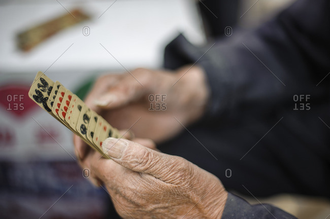 Traditional card games of China. Gansu, China