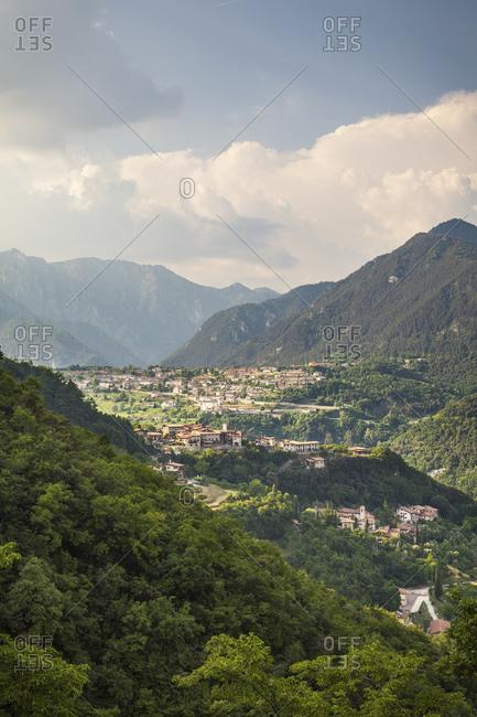 View on Vesio di Tremosine, Brescia, Italy
