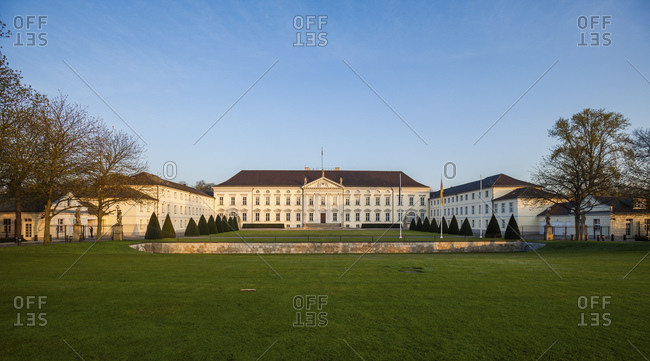 April 9, 2016: Bellevue Palace in Berlin, Germany