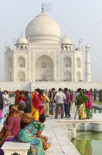 February 17, 2016: Taj Mahal, Uttar Pradesh, India