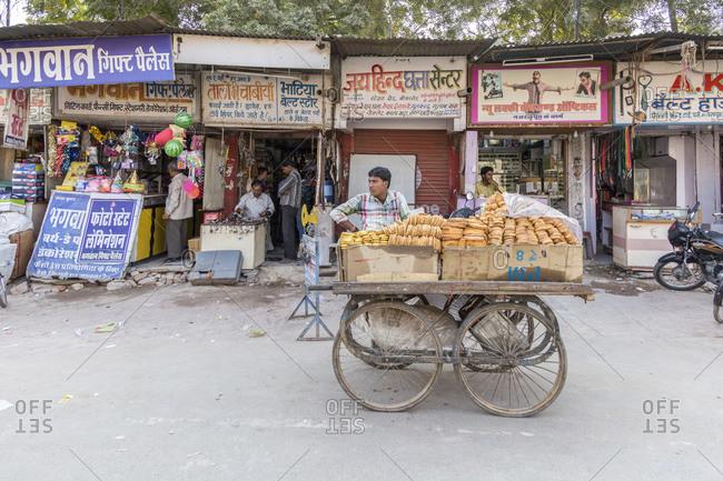 February 8, 2016: Street scene, Bikaner, Rajasthan, India