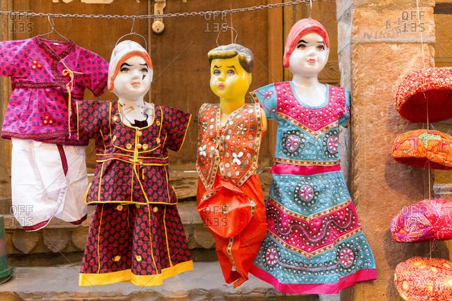 February 9, 2016: Street scene, Jaisalmer, Rajasthan, India