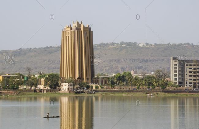 Fishermen in the Niger river in Bamako, Mali