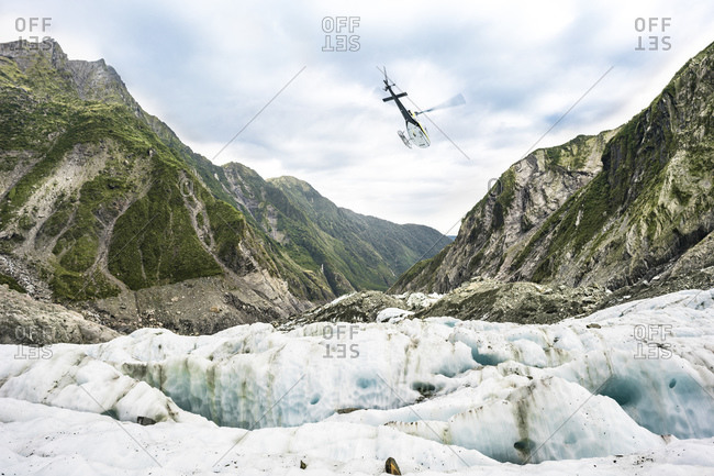 Helicopter on the Franz Josef Glacier, New Zealand