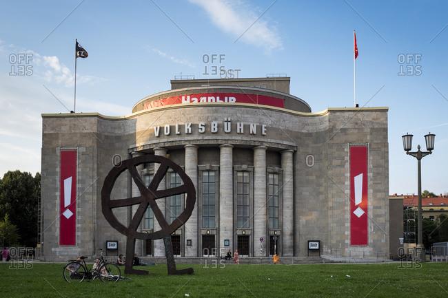 July 22, 2015: Volksbuhne at Rosa-Luxemburg-Platz, Berlin, Germany