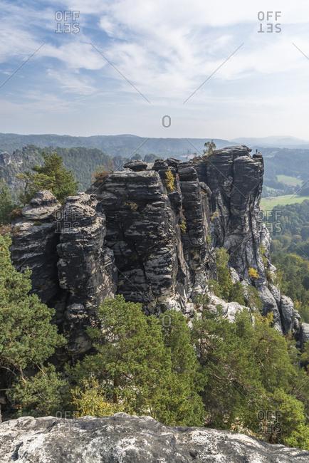 Little goose rocks, Elbe Sandstone Mountains, Saxony, Germany