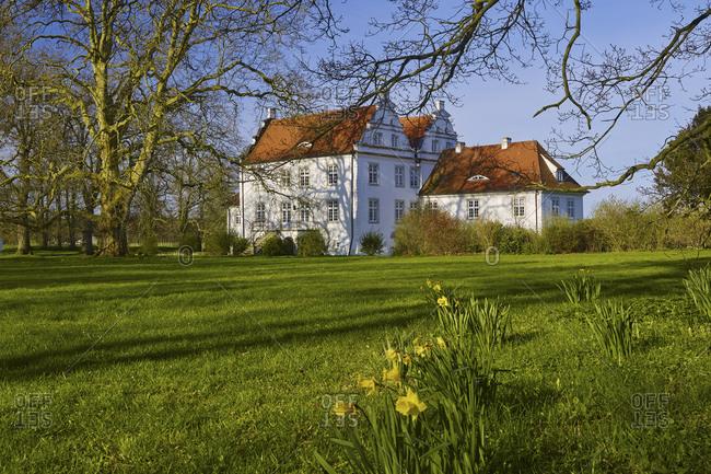Mansion Boldevitz near Bergen, Ruegen, Mecklenburg-West Pomerania, Germany