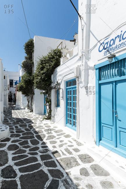 May 13, 2015: Mykonos Island, Cyclades, Aegean, Greece