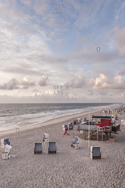 Rotes Kliff beach section, Kampen, Sylt Island, Germany
