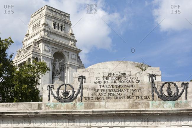 September 11, 2015: Tower Hill Memorial, London, UK
