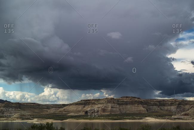 Thunderstorm on Lake Powell, Glen Canyon, Utah, USA
