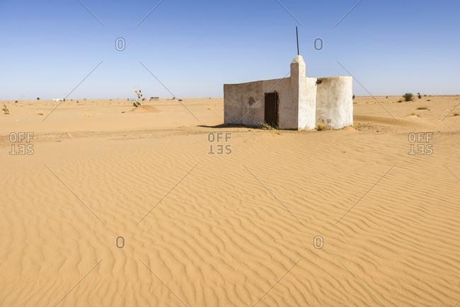 April 5, 2016: Villages of the Sahara desert, Mauritania