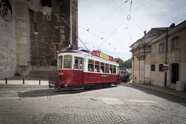 August 26, 2015: Hills Tramcar Tour, Lisbon, Portugal, Europe