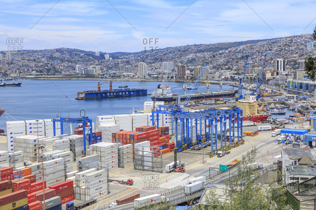 December 10, 2016: Port city Valparaiso, Chile, South America