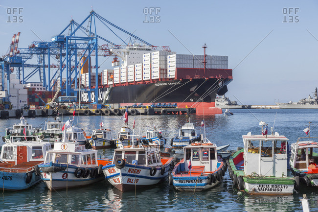 December 8, 2016: Port city Valparaiso, Chile, South America