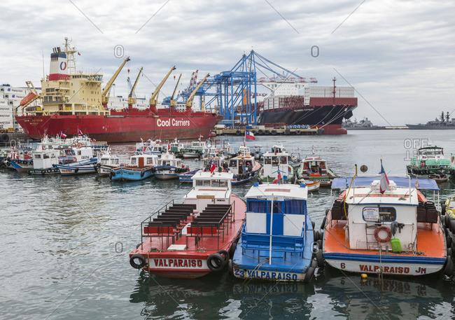 December 9, 2016: Port city Valparaiso, Chile, South America