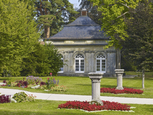Fantaisie Palace Park with pavilion, Eckersdorf, Upper Franconia, Germany