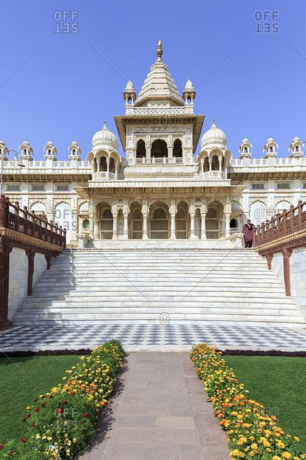 February 12, 2016: Jaswant Thada Kenotaph, Jodhpur, Rajasthan, India