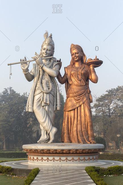 February 6, 2016: Radha Krishna god statues, Delhi, India
