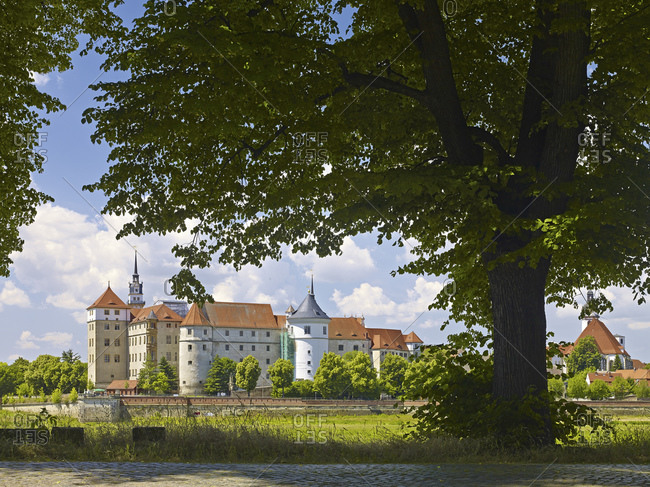 Hartenfels Castle on the Elbe in Torgau, Saxony, Germany