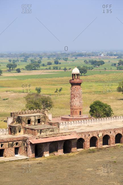 Hiran Minar and Caravansary, Fatehpur Sikri, Uttar Pradesh, India