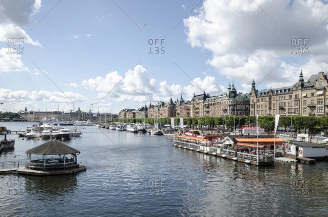 July 11, 2015: Historic district, Strandvagen, Stockholm, Sweden, Europe