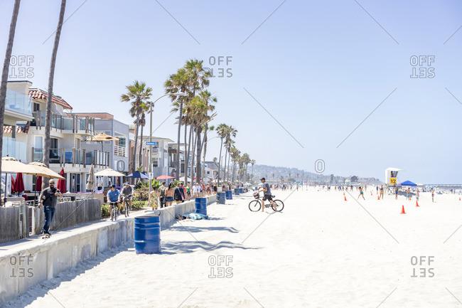 July 3, 2017: Mission Beach, San Diego, California, USA