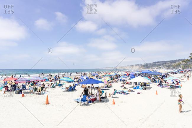 July 4, 2017: Mission Beach, San Diego, California, USA