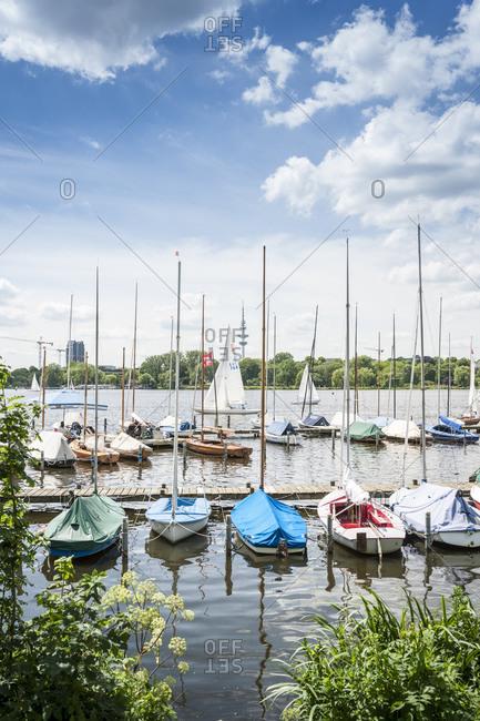 June 28, 2015: Aussenalster, Hanseatic City of Hamburg, Germany