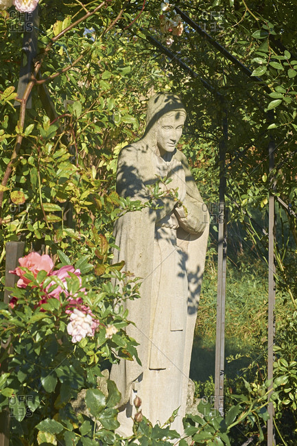 Magdalene figure in the Magdalenengarten Hildesheim, Lower Saxony, Germany