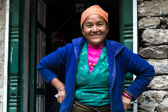 March 20, 2017: Nepalese woman, Langtang Valley, Rasuwa, Nepal