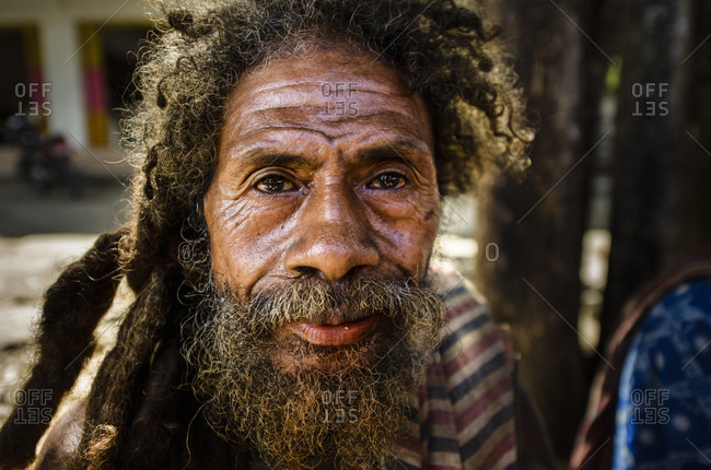 May 21, 2013: Man from West Timor, Kefamenanu, Indonesia