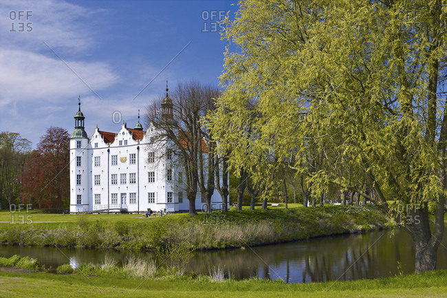 May 3, 2015: Ahrensburg Castle, Stormarn District, Schleswig-Holstein, Germany