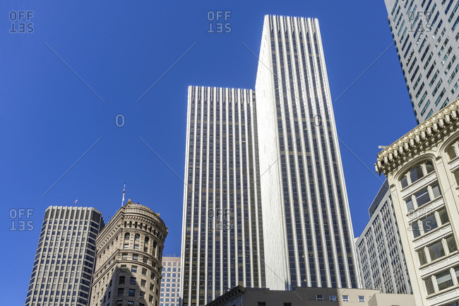 Modern and Historic Architecture, Downtown, San Francisco, California, USA