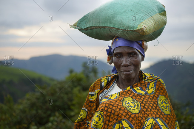 November 2, 2014: Woman wearing traditional clothing, Burundi, Africa