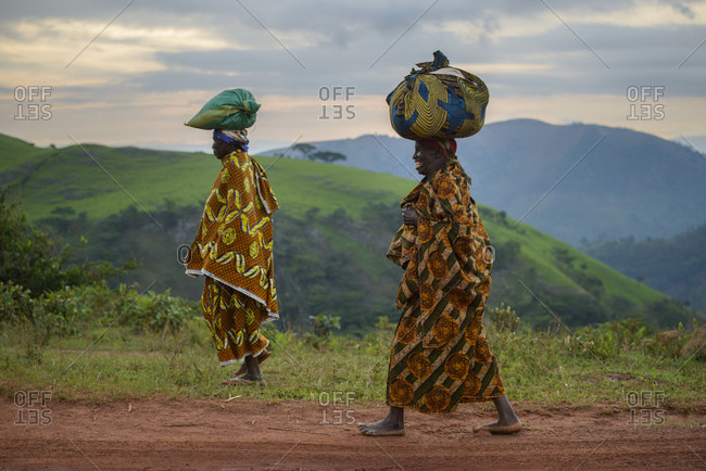 November 2, 2014: Women with traditional clothing, Burundi, Africa