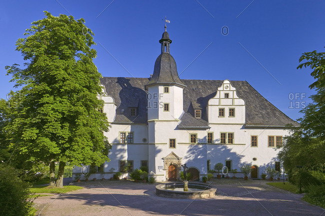 Renaissance castle of the Dornburger castles, Dornburg, Thuringia, Germany