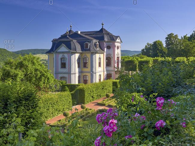 Rococo castle of the Dornburger castles, Dornburg, Thuringia, Germany
